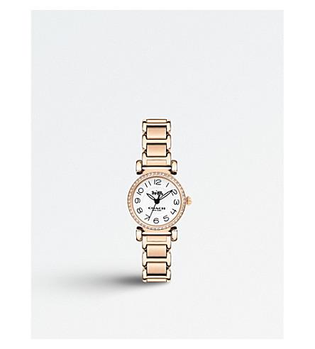 COACH 14502853 Madison rose-gold plated quartz watch