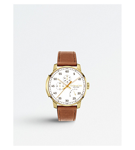 COACH 14602340 Bleecker gold-plated chronograph quartz watch
