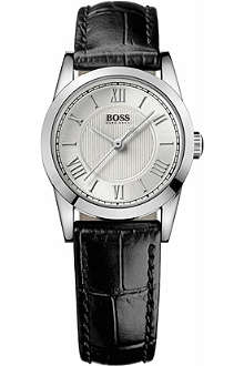 HUGO BOSS 1502281 stainless steel leather watch