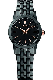 HUGO BOSS H6020 black ion-plated bracelet strap watch