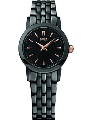 HUGO BOSS H6020 black ion-plated bracelet strap watch