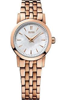 HUGO BOSS 1502362 rose gold-toned bracelet watch