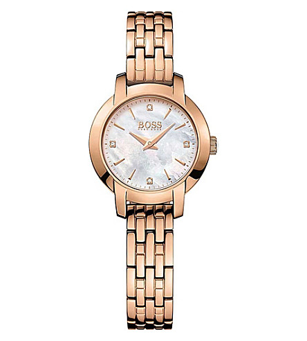BOSS 1502379 Success rose gold-plated stainless steel watch