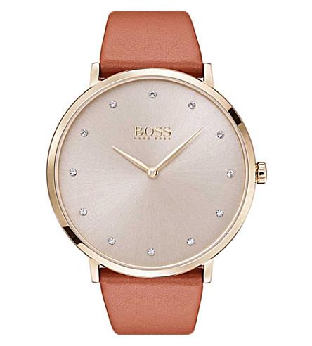 BOSS 1502412 Jillian rose-gold quartz movement watch