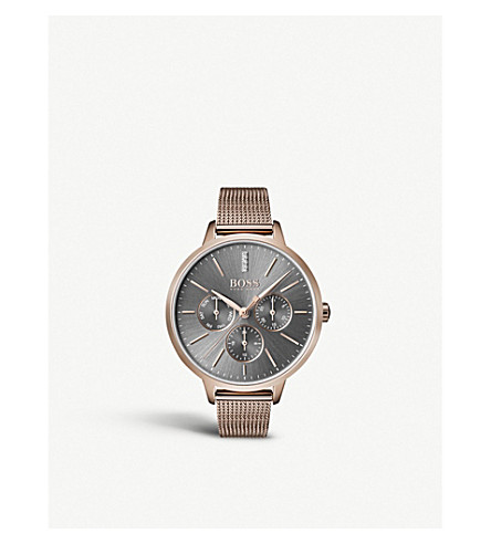 BOSS 1502424 Symphony rose gold-plated quartz watchd