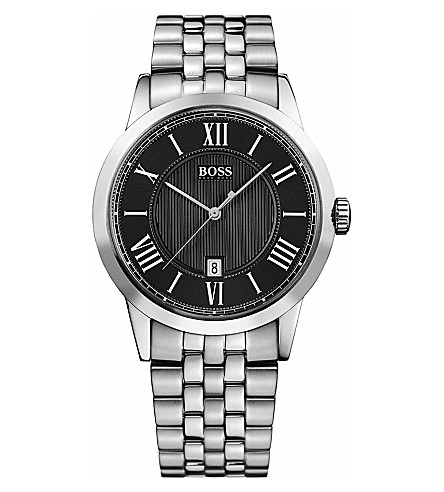 HUGO BOSS Classic embossed dial men's watch (Silver