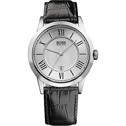 HUGO BOSS Embossed dial men's watch (Black