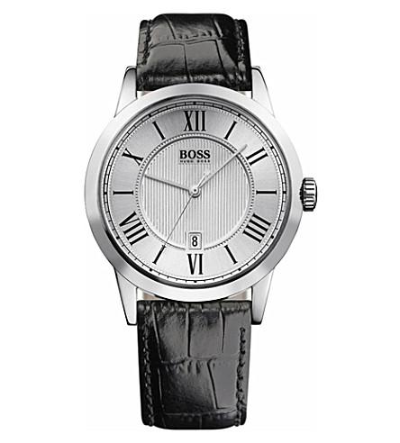 HUGO BOSS Embossed dial men's watch (Black