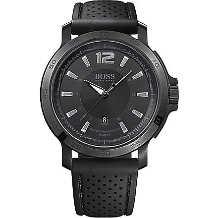 HUGO BOSS 1512453 Black coated men's watch (Black