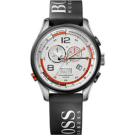 HUGO BOSS 1512501 Logo strap chronograph watch (White