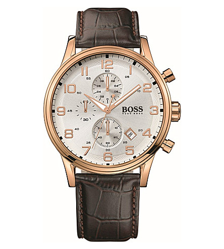 HUGO BOSS 1512519 rose gold-plated chronograph watch (Brown