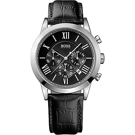 HUGO BOSS 1512574 Classic croc chronograph watch (Black
