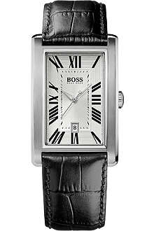 HUGO BOSS 1512707 stainless steel and leather watch
