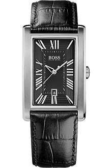 HUGO BOSS 1512708 stainless steel leather watch