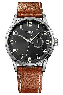 HUGO BOSS 1512723 stainless steel and leather watch