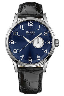 HUGO BOSS 1512790 stainless steel and leather watch