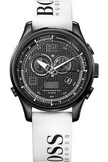 HUGO BOSS 1512802 steel and rubber chronograph watch