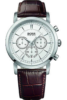 HUGO BOSS 1512871 chronograph watch with leather strap