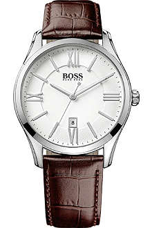 HUGO BOSS 1513021 ambassador watch with leather strap