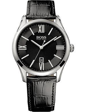 HUGO BOSS 1513022 ambassador watch with leather strap