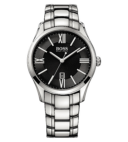 BOSS 1513025 Ambassador stainless steel watch (Black