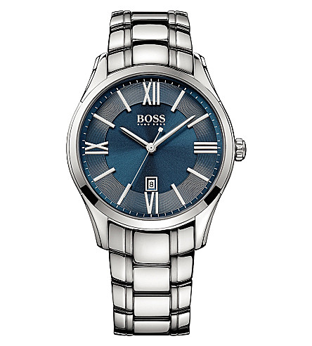 HUGO BOSS 1513034 Ambassador stainless steel watch (Blue