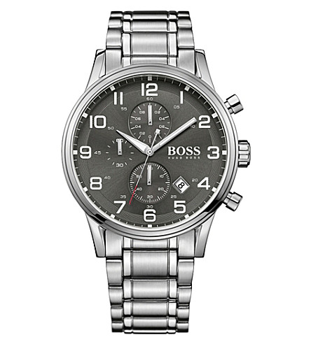 BOSS 1513181 aeroliner stainless steel watch