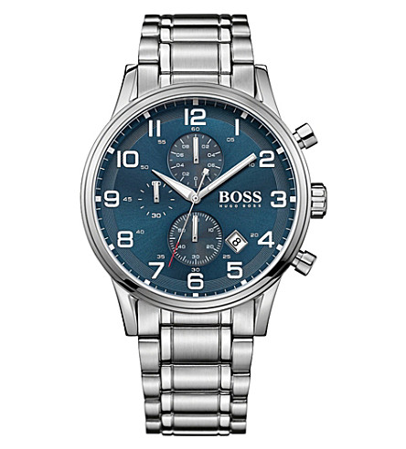BOSS 1513183 aeroliner stainless steel watch