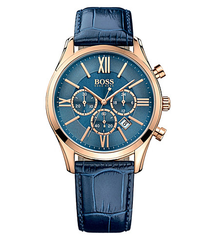 BOSS 1513320 ambassador rose-gold stainless steel watch