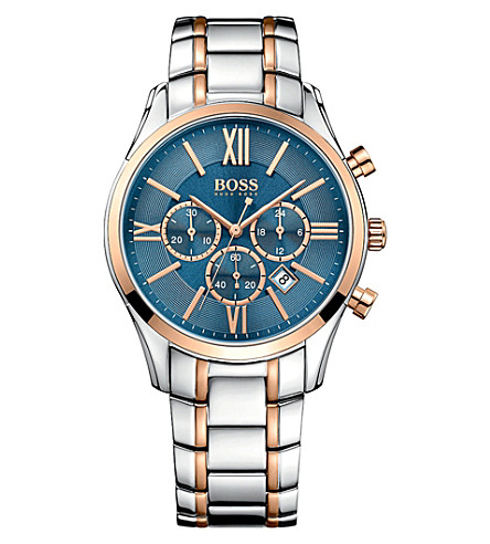 BOSS 1513321 ambassador rose-gold stainless steel watch