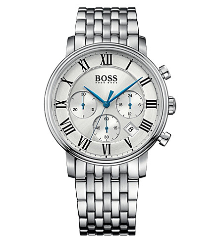 BOSS 1513322 elevated classic stainless steel watch