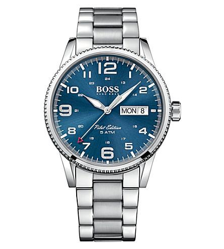 BOSS 1513329 pilot stainless steel watch