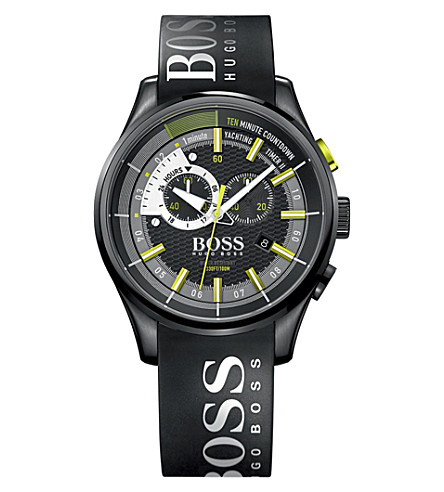 BOSS 1513337 yachting timer II stainless steel watch