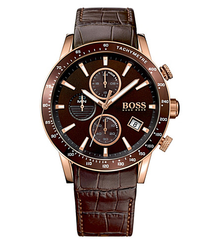 BOSS 1513392 Rafale rose gold-plated stainless steel watch