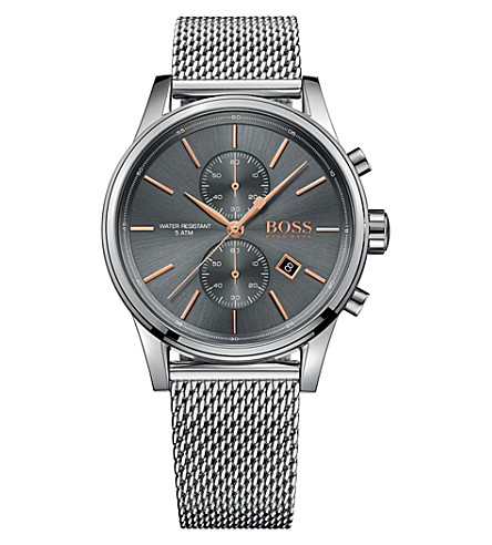 BOSS 58054498 Stainless steel chronograph with Milanese strap
