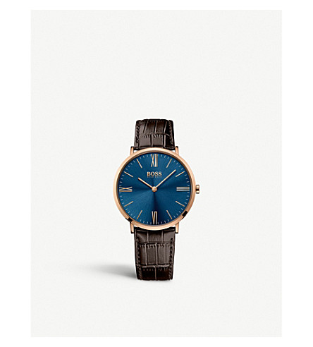 BOSS 1513458 Jackson gold-plated leather watch
