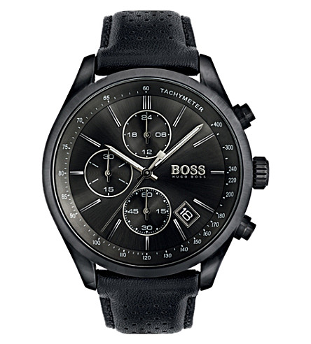 BOSS 1513474 Grand Prix ion-plated steel watch
