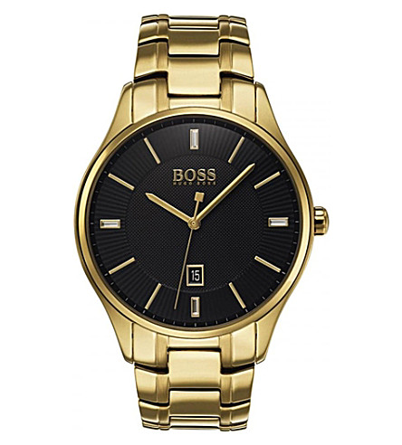BOSS 1513521 Governor quartz yellow gold watch