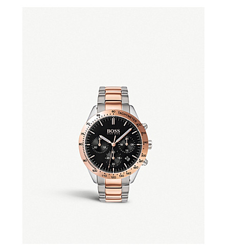 BOSS 1513584 Talent rose gold-plated quartz watch