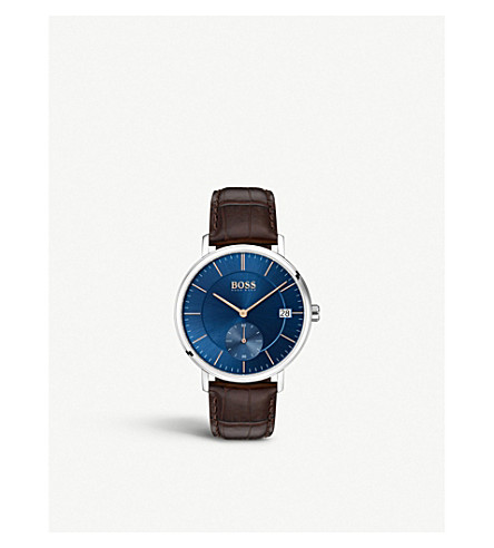 BOSS 1513639 Corporal stainless steel and leather watch
