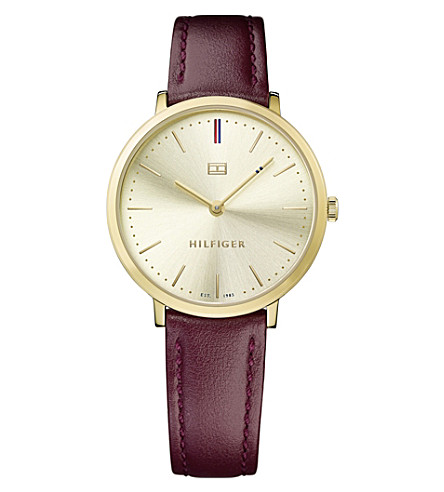 TOMMY HILFIGER 1781692 Pippa PVD gold-plated leather watch