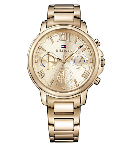 TOMMY HILFIGER 1781743 Claudia PVD gold-plated watch