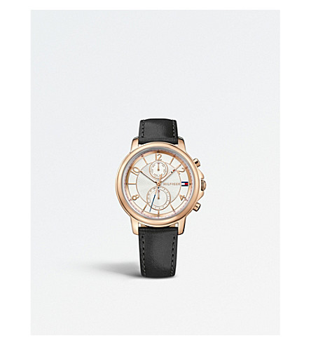 TOMMY HILFIGER 1781742 Claudia PVD rose gold-plated leather watch