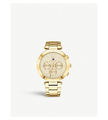 TOMMY HILFIGER 1781878 Chloe gold-plated watch