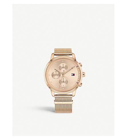 TOMMY HILFIGER 1781907 Blake rose gold-plated watch