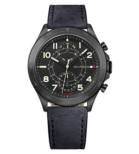 TOMMY HILFIGER 1791345 Hudson black ion-plated steel watch