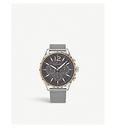 TOMMY HILFIGER 1791466 Gavin stainless steel and rose-gold plated watch