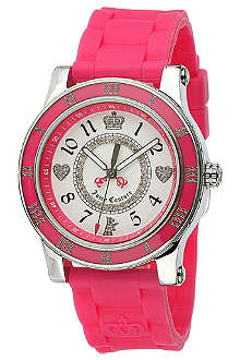 JUICY COUTURE 1900456 stainless steel and rubber watch