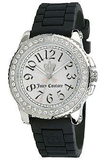 JUICY COUTURE 1900704 stainless steel and rubber watch