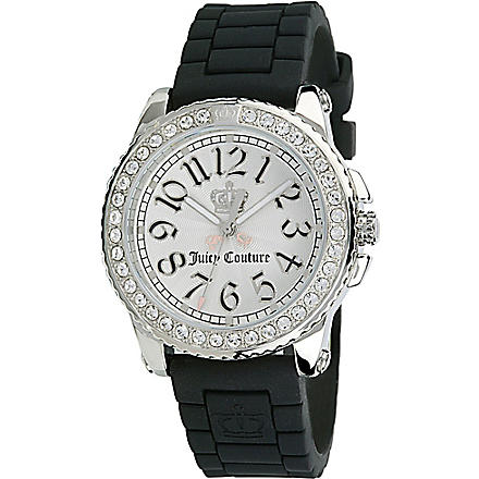 JUICY COUTURE 1900704 stainless steel and rubber watch (White